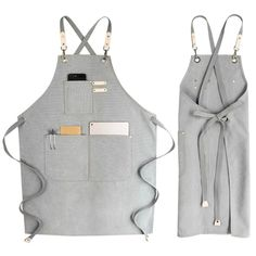 Canvas Cook Apron Barista Bartender Chef Hairdressing Apron Catering Uniform Work Wear Anti-D. Barista, Cafe Uniform, Waiter Uniform, Unisex, Waitress Outfit, Restaurant Aprons, Shop Apron, Work Aprons, Bbq Apron