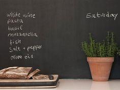 kitchen, shopping list