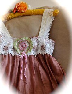 Romantic Mori Kei Rustic Camisole Top Unique Clothing by IzzyRoo, $38.00