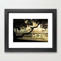 Hawaii-Hope Framed Art Print by Reinecke Design Studio - $32.00