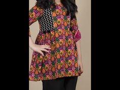 Short Frocks, Kurti, Stitching, Short Sleeve Dresses, Boho, Sewing, Stylish, Youtube, Fashion