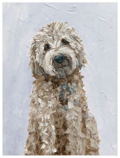 Does this golden doodle remind you of a favorite family pet? Adorn you wall with this sweet, smart puppy. Our canvas wall art and art prints are proudly printed in the USA using the coveted giclée method. Goldendoodle Art, Cockapoo, Golden Doodle Dog, Golden Doodles, Doodle Wall, Dog Portraits, Animal Paintings, Dog Art, Disney Films