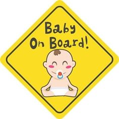 $4.99  Baby on Board with Baby Vinyl Decal Sticker