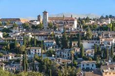 San Nicolas from Alhambra Granada Spain