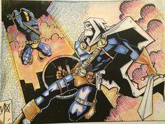 Taskmaster vs Deathstroke by Max Cereijido & Jeremy Scully