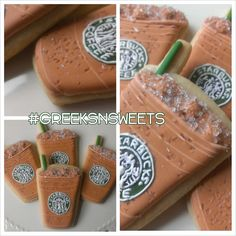 Starbucks Iced Latte coffee cup by GreeksNSweets on Etsy, $39.00