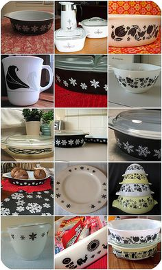 Black and White Pyrex!  I'm surprised Grandma and NeeNee didn't have this!