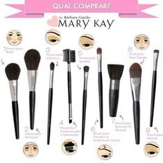 Mary Kay brushes! The right brush makes all the difference! http://www.marykay.com/kmcray