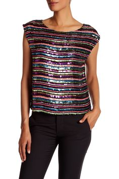 Beaded Bateau Tank by Tracy Reese on @HauteLook