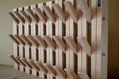 multiplex 30 mm - www. Awesome Woodworking Ideas, Woodworking Crafts, Hallway Designs, Wooden Hangers, Wood Working For Beginners, Interior Design Kitchen, Clothes Hanger, Home Remodeling, Wood Crafts