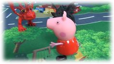 Peppa Pig and dragons. Peppa with her brother George have adventures wit...