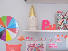 colorful shelves - l