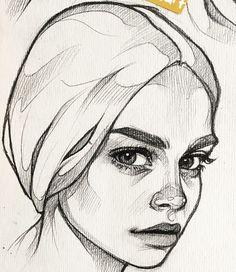 Pencil art drawings doodles artists Ideas for 2019 - kunst illustration Pencil Art Drawings, Art Drawings Sketches, Drawing Faces, Drawing Drawing, Drawing Tips, Portrait Sketches, Portrait Art, Drawing Portraits, Art Sketchbook