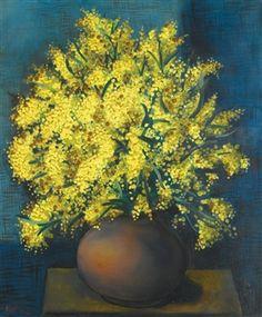 Bouquet de Mimosas (1937) by Moise Kisling (1891-1953), Polish-born French (mutualart)
