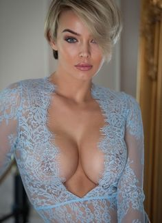 Rosie Robinson looking gorgeous in translucent, low-cut lingerie top. This is my idea of hot lingerie. (And a hot woman.) See a whole board full of ladies in lingerie here: http://pinterest.com/captainkdog/ladies-plus-lingerie . Full size (681px × 943): https://s-media-cache-ak0.pinimg.com/originals/c7/af/6b/c7af6bb8d86015fb35505e57dda5010f.jpg