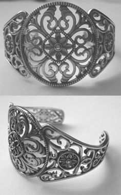 Next tattoo: Filigree Cuff Bracelet with the words 'His Was A Life Well Lived'