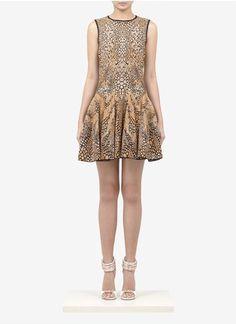 Alexander McQueen - Jacquard knit dress | Multi-colour Cocktail Dresses | Womenswear | Lane Crawford