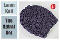 Loom knitting hats - Spiral stitch. Learn the U-wrap and e-Wrap knit stitches and a cool trick to keep you on track. Great for beginners. Homepage: http://ww...