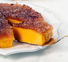 5 ovos 5 gemas 150 g de açúcar 1 limão (raspa) 1 c. (de café) de açúcar baunilhado 80 g de farinha 2 dl de leite morno 1/2 cháv. (de chá) de doce de gila manteiga derretida q.b. açúcar q.b. Unte uma forma redonda com manteiga derretida, forre-a...