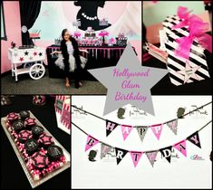 Hollywood Glam Birthday Party