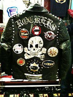 Rocker leather jacket