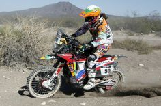Rally Dakar 2014. Laia Sanz(50) Honda CRF 450 Rally