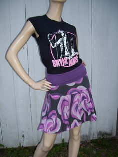 Upcycled Tshirt Bubble Dress Bryan Adams 1980s Cuts Like a Knife Sleeveless geek Hi Low Dress S M Adult. $40.00, via Etsy.