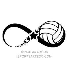 Volleyball Star Infinity — SportsArtZoo