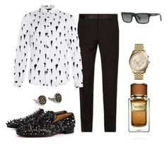 """be glamourous men!!"" by glamfash ❤ liked on Polyvore featuring Dolce&Gabbana, Michael Kors, Prada, Christian Louboutin, Topman, men's fashion and menswear"