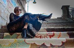 Dress by Stella McCartney - Booties Valentino