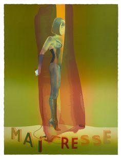 Maitresse II aus dem Mappenwerk WHAT IF - 2015/2016 - Siebdruck auf Bütten - 106 x 80 cm - Auflage 40 Exemplare - signiert und nummeriert