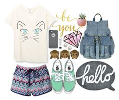 """☁︎Cool Cat☁︎"" by bcsipp ❤ liked on Polyvore featuring Accessorize, Lilipinso, OtterBox, philosophy and Honora"