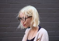 Blonde Bob with Glasses