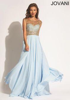2014 Jovani Beaded Sleeves Prom Dress 88471
