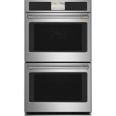 Cafe Scan-To-Cook Self-Cleaning True Convection Double Electric Wall Oven (Stainless Steel) (Common: 27 Inch; French Door Wall Oven, Electric Wall Oven, Cafe Wall, Stainless Steel Oven, Thing 1, Oven Racks, Cool Things To Buy, Cleaning, Wall Ovens