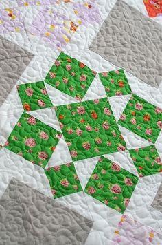 On a Whim by croskelley, via Flickr - love the quilting on this one