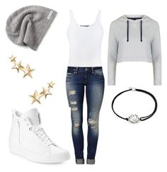 """""""star"""" by fairytalestorybook ❤ liked on Polyvore featuring Vince, Mavi, Alex and Ani, Converse, Topshop and Kenneth Jay Lane"""