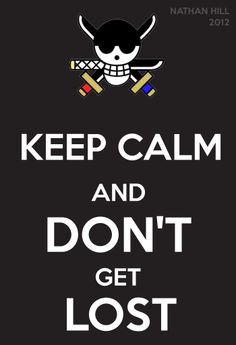 One Piece Keep Calm Roronoa Zoro