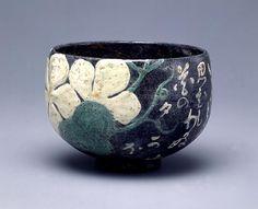 Chawan, Kenzan ware, Edo period pottery, Japanese ceramics tea bowl
