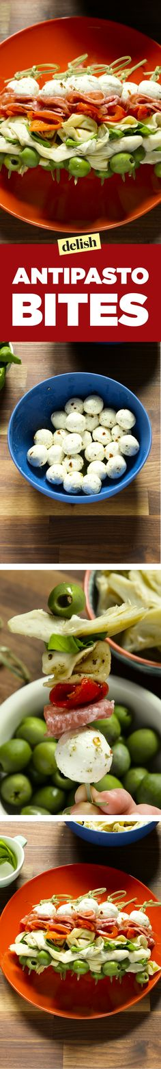 You won't be able to keep your hands to yourself around these antipasto bites. Get the recipe on Delish.com.