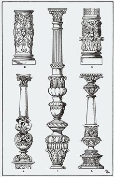 "From, ""A Handbook of Ornament"". 1898 by Franz Sales Meyer. Temple Architecture, Historical Architecture, Ancient Architecture, Architecture Drawings, Architecture Details, Ornaments Design, Architectural Elements, Gravure, Sculpture Art"