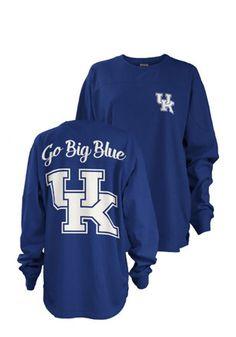Kentucky Womens Fight Song Blue LS Tee