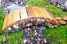 Miniature Garden Small Rock Bridge Goes With A Fairy Door, Gnome Door, Hobbit…