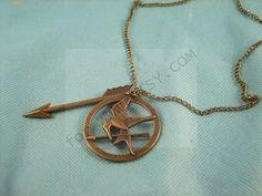 Harry Potter arrow dead bird hunger Pendant Necklace Pendant vintage style on Etsy, $0.95
