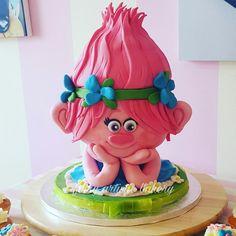 Princess poppy trolls cake  by Helen at fairy artistic