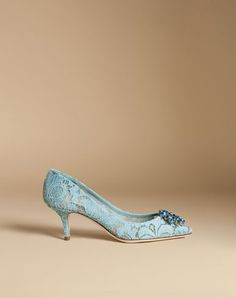 DOLCE & GABBANA Pump In Taormina Lace With Crystals. #dolcegabbana #shoes #