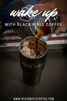 BLACK RIFLE COFFEE COMPANY - wake up with cold brew today! Grab some delicious coffee and get to goin'! #BlackRifleCoffee #Coldbrew #Coffee