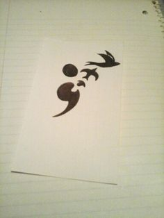 Semi colon tattoo design
