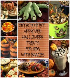 Orthodontist-approved Halloween treats for kids with Braces - A Sparkle of Genius #halloween #halloweentreatswithbraces #bracesfriendly