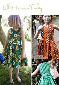 french dresses made from vintage fabrics.  such cute drop waisted dresses with pleated skirt. I want one in my size.